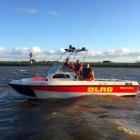 Die Klaar Kimming im Einsatz auf der Elbe (Foto: Feuerwehr Wedel)
